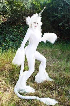 A Beautiful White Unicorn Costume
