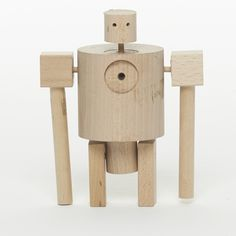 Wooden robot -  sculpture