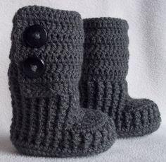 crochet booties<3