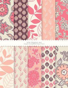 Digital Paper Digital Scrapbook Paper Pack by VNdigitalart on Etsy  https://www.etsy.com/listing/126012209/digital-paper-digital-scrapbook-paper?ref=shop_home_active_14
