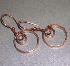 copper tubing earrings