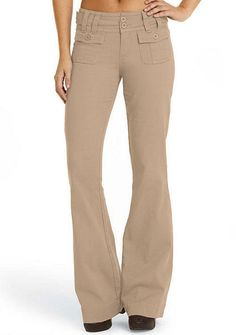 Double Button Stretch Twill Flare - Pants - Sale - Alloy Apparel