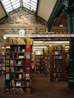 Barter Books | Alnwick, England this is genuinely one of the nicest,most crammed,fabulous bookshops EVER.