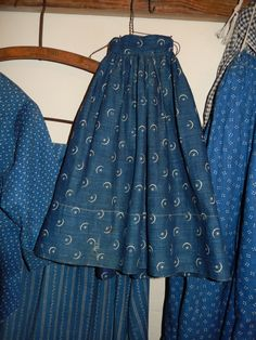 moon and star calico doll skirt | My favorite antique textile is indigo calico with cream. - gypsy18