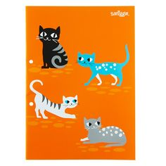 Cat A4 Exercise Book from Smiggle - yellow