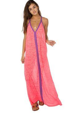 b415360d953 Inca Sun Dress in Hot Pink Pink Street