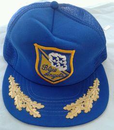 Blue Angels Vintage Truckers Mesh Baseball Hat Cap Airplanes  #Angels #Trucker
