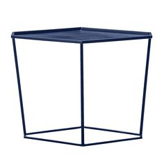 The Geo Sidetable by Bloomingville boasts a top finish in blue, with a frame finish in blue. This beautiful side table is the perfect compliment to a contemporary living room.