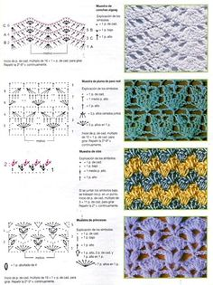 Tons of stitch diagrams ༺✿ƬⱤღ  https://www.pinterest.com/teretegui/✿༻