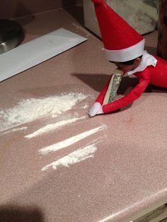 """naughty elf on the shelf! Office Christmas, Christmas Elf, Xmas, Christmas Ideas, Elf Games, Bad Elf, Elf On The Self, Naughty Elf, Christmas Time Is Here"
