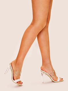 To find out about the Pearl Decor Transparent Heels at SHEIN, part of our latest Pumps ready to shop online today! Transparent Heels, Shoes Heels, Pumps, Stilettos, Clear Heels, White Heels, Workout Accessories, Pearl Color, Fashion News