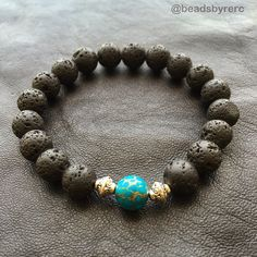 Private order. Combination of: •Lava •Tq. & gold stone •Spacers $25 Designed by #RubénEdgardo Get your own: beadsbyrerc@gmail.com  #beads #beadsbyrerc #turquoise #luxury #luxurybracelets #bracelets #lava #stone #fashion #handmade #PuertoRico