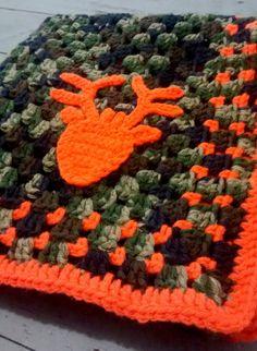 Camo Deer Hunting Blaze baby blanket by FluffyChickenFarm on Etsy