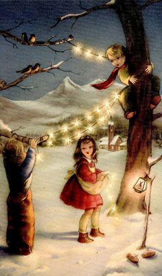 A Polar Bear's Tale: A vintage Christmas greeting card