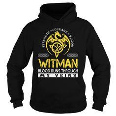 WITMAN Blood Runs Through My Veins - Last Name, Surname TShirts
