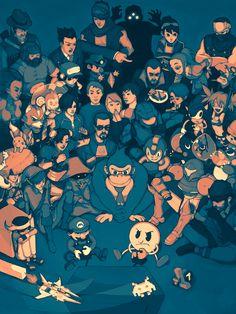 NYU Game Center Poster #art #fanart #poster #nyu #gaming #illustration #videogames #nintendo