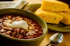 Katie's Adventures in the Kitchen - Chili and jalapeno cornbread