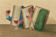 F U L M I N A T I O N S C O L L E C T O R: Jonathan Wolstenholme, Nature morte aux livres anciens.
