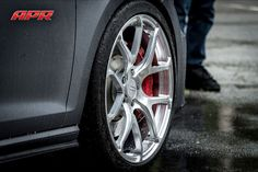 "The ultimate wheel for the Golf R7? APR (Porsche GT3-style) wheels. Forged in Japan by Rays Wheels. 9.00"" x 19.00"" Finish: Black - Offset:40  Bolt Pattern:5x112.00 - Weight: 21 pounds. Photo found here: http://www.gmpperformance.com/index.cfm?PG=detail&PID=231947"