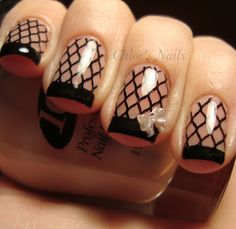 Fishnet Konad Nails