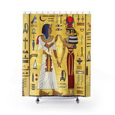 Voici ce que je viens d Sphynx, Culture, Etsy, Egyptian Symbols, Curtains, Shower, Sphynx Cat