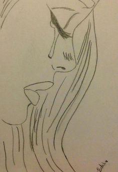 Sad drawings, easy drawings sketches, cute drawings of people, easy love drawings, Sad Sketches, Easy Drawings Sketches, Sad Drawings, Girl Drawing Sketches, Cool Art Drawings, Disney Drawings, Drawing Ideas, Drawing Projects, Easy But Cool Drawings