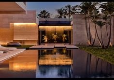 3 Indian Creek Miami, Florida - The concept of the property is to have water flowing inside and outside of the house. The grounds include waterfalls, a zen-like water garden, reflection pools and a koi pond.