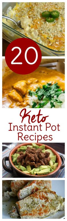 Break out your Instant Pot and make your ketogenic diet even simpler! 20 Instant Pot keto recipes perfect for dinner or anytime!