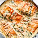 Creamy Garlic Butter Tuscan Salmon (OR FISH)