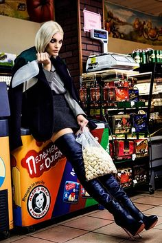 Supermarket Fashion ♥ http://duchessdior.tumblr.com/post/98329120694/jessica-stam-harpers-bazaar-russia-october-2014