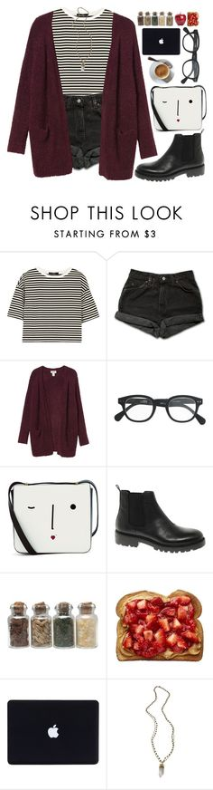 """""""Outfit of the Day: Café Breakfast"""" by graywil ❤ liked on Polyvore featuring TIBI, Levi's, Monki, J.Crew, Lulu Guinness, Vagabond, Alexandra Beth Designs, women's clothing, women and female"""