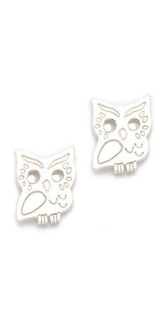 Gorjana Owl Stud Earrings    $38.00
