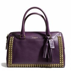 The Legacy Haley Satchel in Studded Leather from Coach
