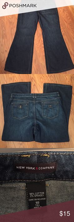 "New York & co jeans New York & co bootcut jeans, inseam 28"" New York & Company Jeans Boot Cut"