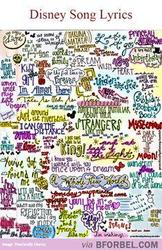 Some Famous Disney Song Lyrics