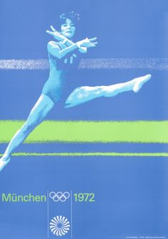 Otl Aicher Original Poster: Olympic Games 1972 - Women's Gymnastics