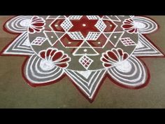 Tamil New Year Special | Star Padi kolam | Friday Kolam | 7*4 dots | Easy Rangoli | Pandaga Muggulu - YouTube Padi Kolam, New Year Special, Simple Rangoli, Dots, Friday, Stars, Youtube, Stitches, Sterne