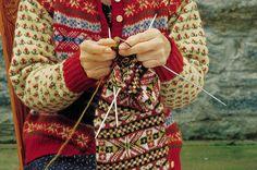 Traditional Fair Isle hand knitting