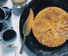 Candied-Fennel-Topped Lemon Cake recipe - I don't know about this, but weird and interesting and I want to try it!