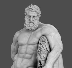 Farnese Hercules, a Greek god with great, strong and heroic anatomy created by a Greek sculptor named Lysippos. This famous sculpture was moved to Naples in 1787. A good one to study the heroic proportions and musculature. Farnese Hercules is one of the most famous sculpture of the classical era and has a strong heroic image in European imagination.
