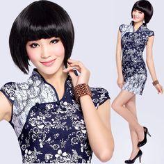 Short Jean Cheongsam / Qipao / Chinese Dress