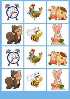 B típus 3. oldal - Kivágható kártyás memória játék állatokkal - kerekmese