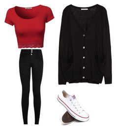 """""""Untitled #9"""" by assatabot on Polyvore featuring Zara and Converse"""