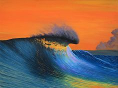 Eco surf art painting by Scott Denholm - The Shining. #surfart #sunset #painting #canvasprint #interiordesign  Prints available http://www.ecosurfart.com/portfolio/shining/