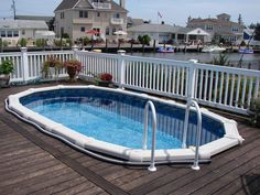 Above Ground Pool Installation Photos - The Pool Factory Oval Above Ground Pools, In Ground Pools, Pool Deck Plans, Pool Decks, Pool Installation, See Photo, Outdoor Decor