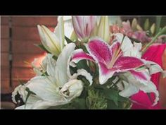 Wedding Floral Arrangements : How to Make Flower Arrangements With Lilies - YouTube
