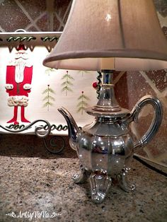 While visiting the Country Living Fair back in October, I found these vintage pot holders. Homemade Lamp Shades, Homemade Lamps, Recycled Lamp, Recycled Crafts, Antique Lamps, Vintage Lamps, Funky Furniture, Recycled Furniture, Homemade Lighting