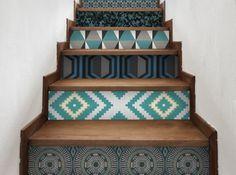 L 39 inspiration du jour le sol en vinyle effet carreaux de - Papier peint escalier ...