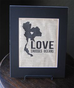 Love Crosses Oceans Thailand  Vintage by RedeemedTreasures on Etsy, $15.00