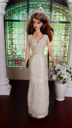 bride doll, June Bride for Silkstone Barbie Victoire Roux  by HankieChic